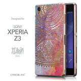 Front & Side View - CASEiLIKE Sony Xperia Z3 back cover Indian Line Art 2065