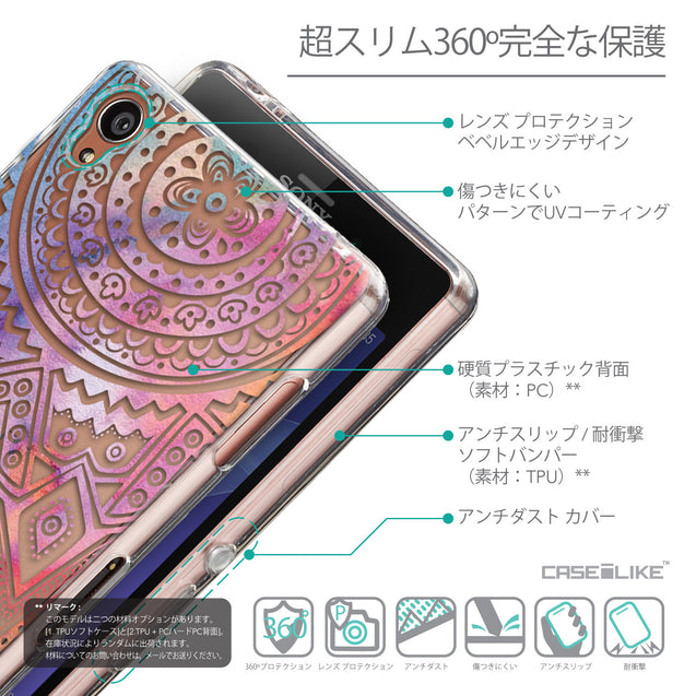 Details in Japanese - CASEiLIKE Sony Xperia Z3 back cover Indian Line Art 2065