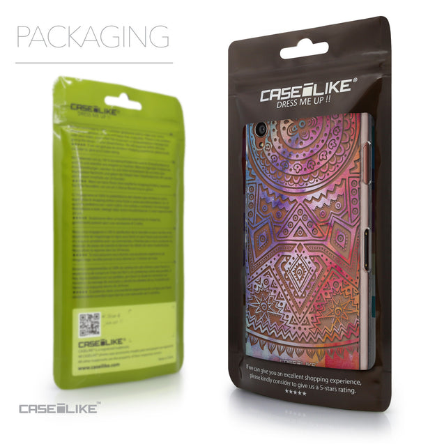 Packaging - CASEiLIKE Sony Xperia Z3 back cover Indian Line Art 2065