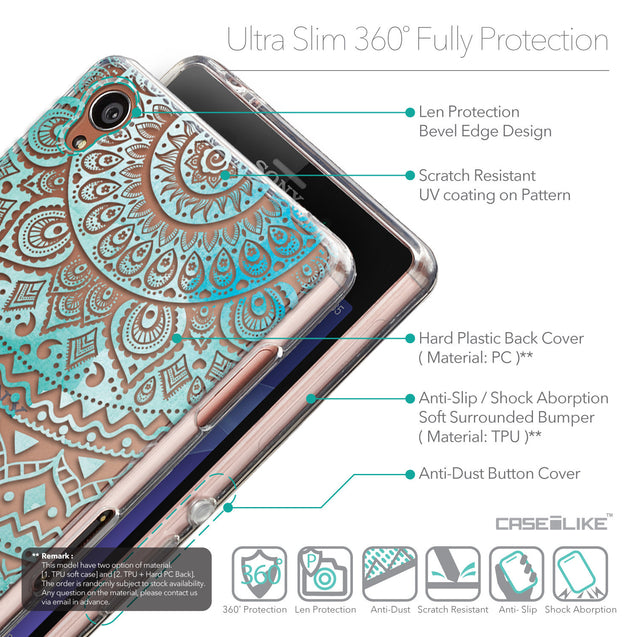 Details in English - CASEiLIKE Sony Xperia Z3 back cover Indian Line Art 2066