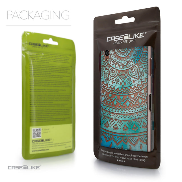 Packaging - CASEiLIKE Sony Xperia Z3 back cover Indian Line Art 2066