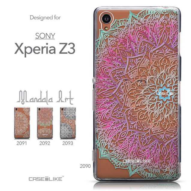 Collection - CASEiLIKE Sony Xperia Z3 back cover Mandala Art 2090
