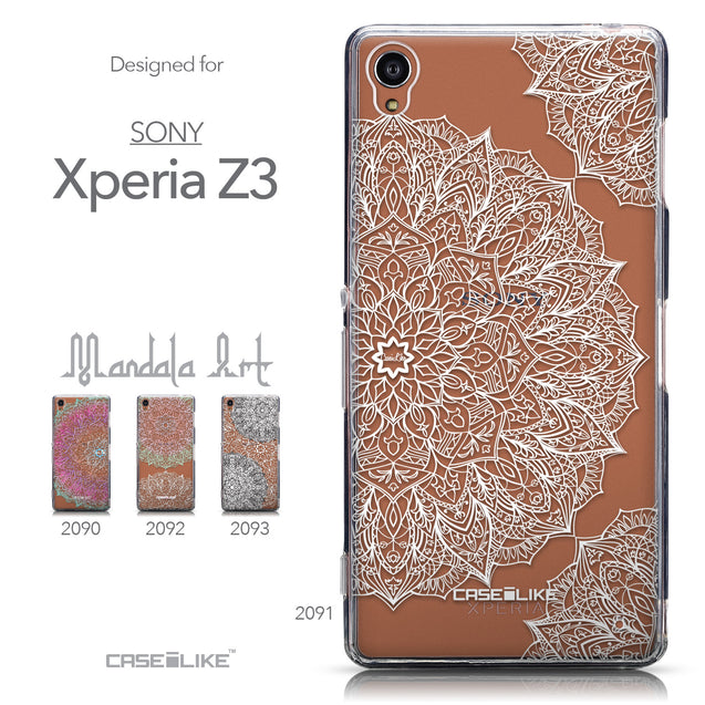 Collection - CASEiLIKE Sony Xperia Z3 back cover Mandala Art 2091