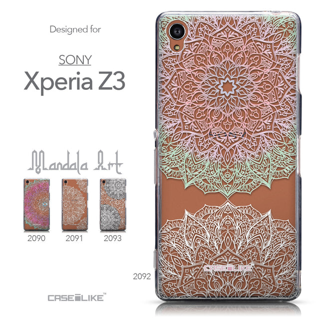 Collection - CASEiLIKE Sony Xperia Z3 back cover Mandala Art 2092