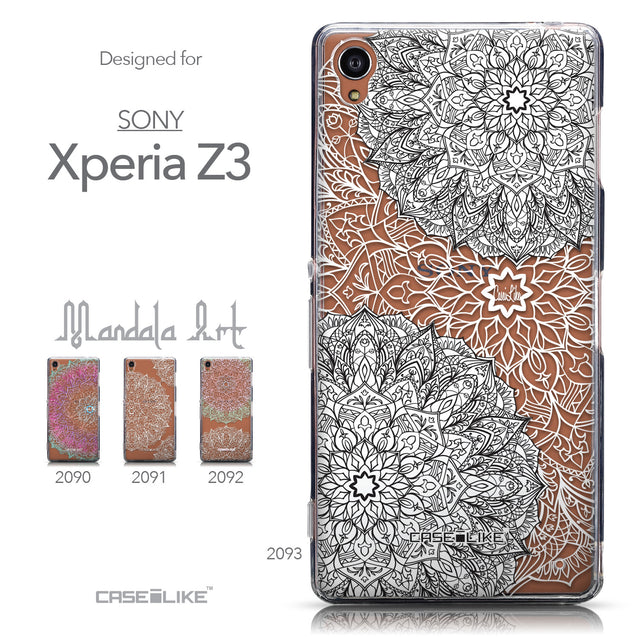 Collection - CASEiLIKE Sony Xperia Z3 back cover Mandala Art 2093