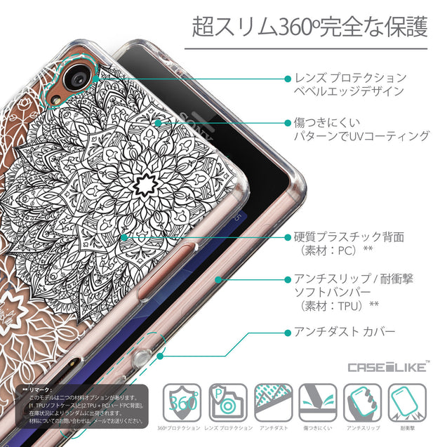 Details in Japanese - CASEiLIKE Sony Xperia Z3 back cover Mandala Art 2093