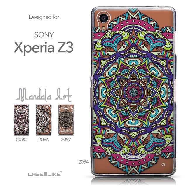Collection - CASEiLIKE Sony Xperia Z3 back cover Mandala Art 2094