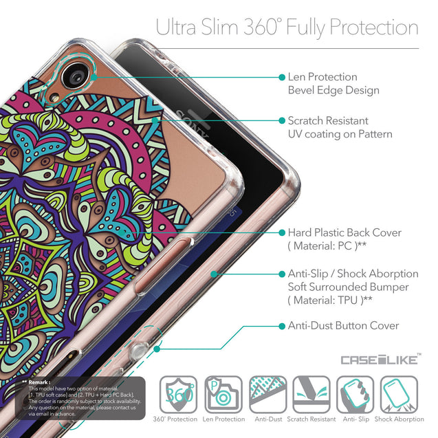 Details in English - CASEiLIKE Sony Xperia Z3 back cover Mandala Art 2094