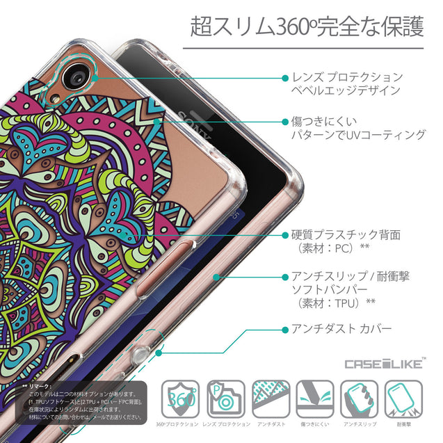 Details in Japanese - CASEiLIKE Sony Xperia Z3 back cover Mandala Art 2094