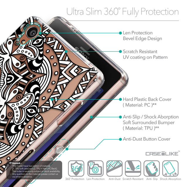 Details in English - CASEiLIKE Sony Xperia Z3 back cover Mandala Art 2096