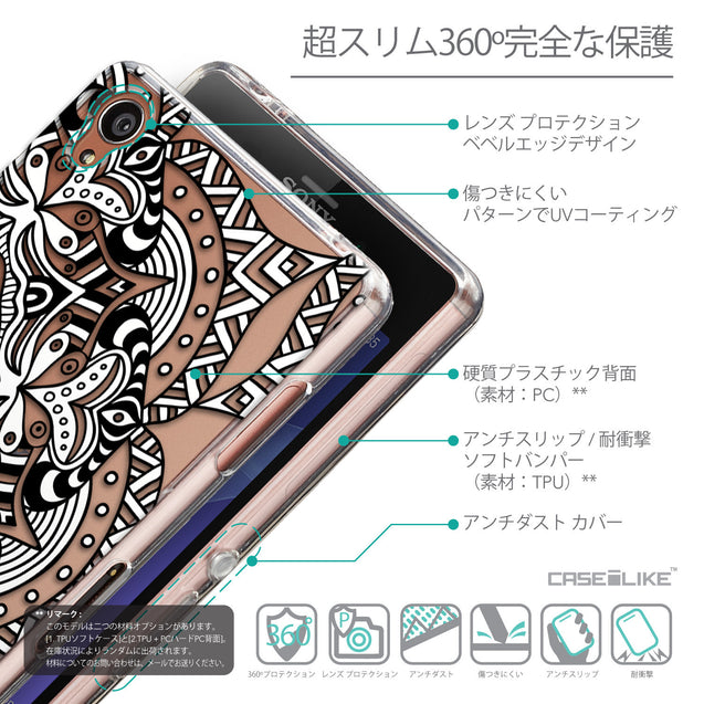 Details in Japanese - CASEiLIKE Sony Xperia Z3 back cover Mandala Art 2096