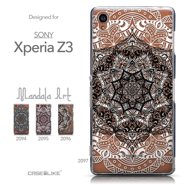 Collection - CASEiLIKE Sony Xperia Z3 back cover Mandala Art 2097
