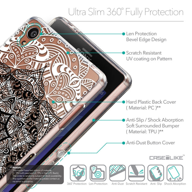 Details in English - CASEiLIKE Sony Xperia Z3 back cover Mandala Art 2097