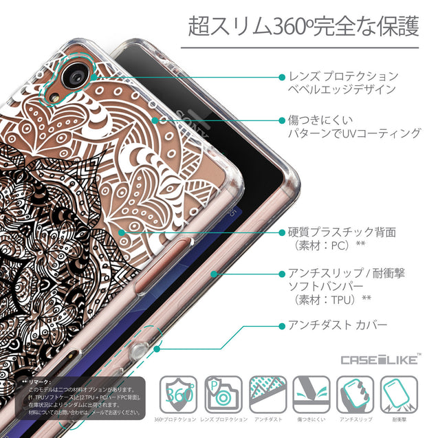 Details in Japanese - CASEiLIKE Sony Xperia Z3 back cover Mandala Art 2097
