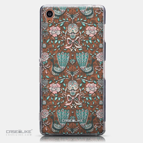 CASEiLIKE Sony Xperia Z3 back cover Roses Ornamental Skulls Peacocks 2226