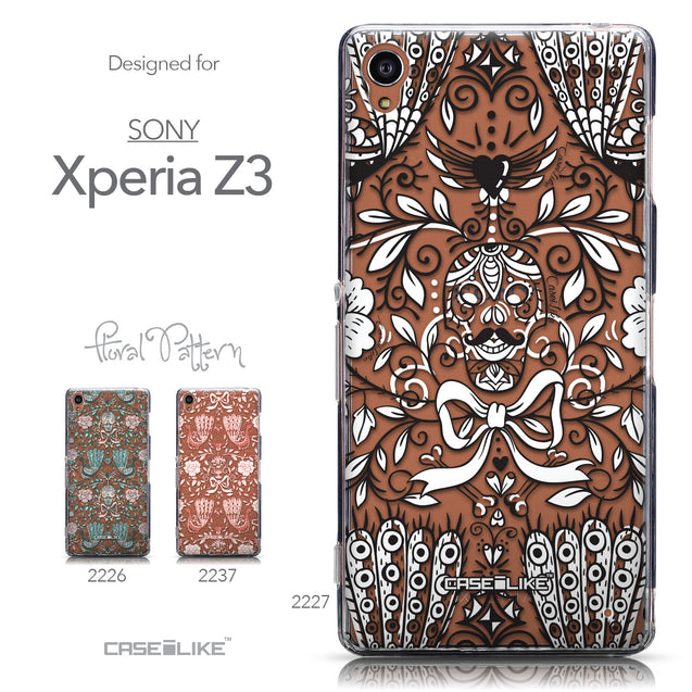 Collection - CASEiLIKE Sony Xperia Z3 back cover Roses Ornamental Skulls Peacocks 2227