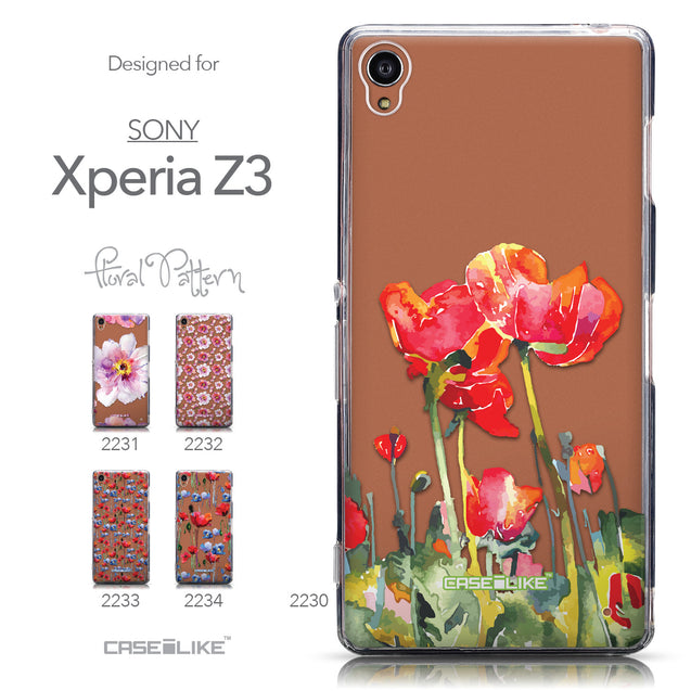 Collection - CASEiLIKE Sony Xperia Z3 back cover Watercolor Floral 2230