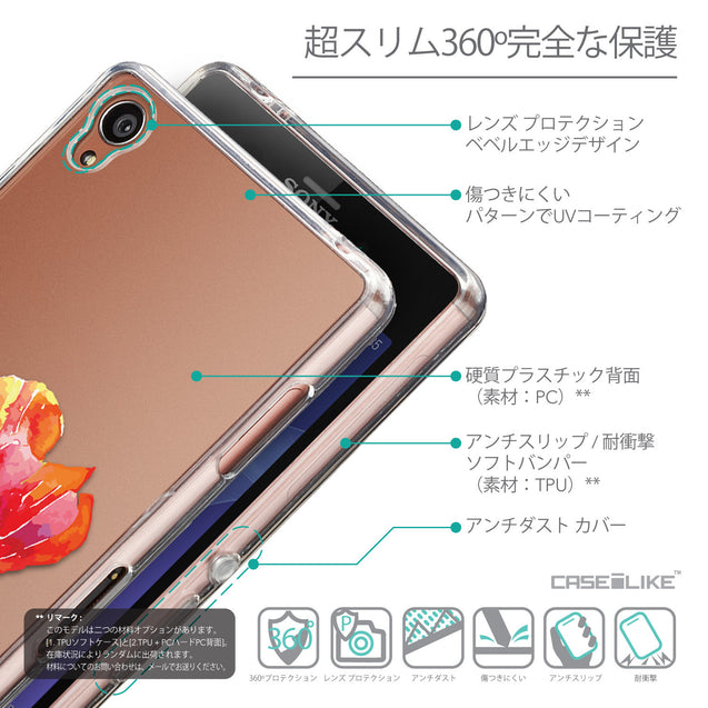 Details in Japanese - CASEiLIKE Sony Xperia Z3 back cover Watercolor Floral 2230