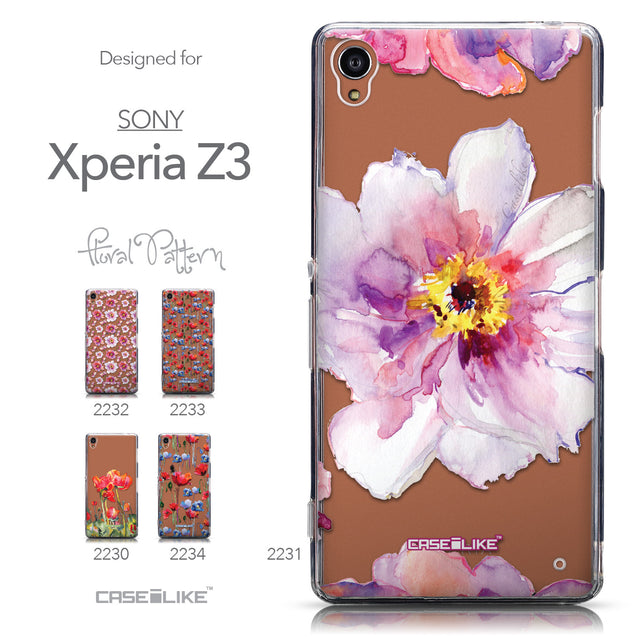 Collection - CASEiLIKE Sony Xperia Z3 back cover Watercolor Floral 2231
