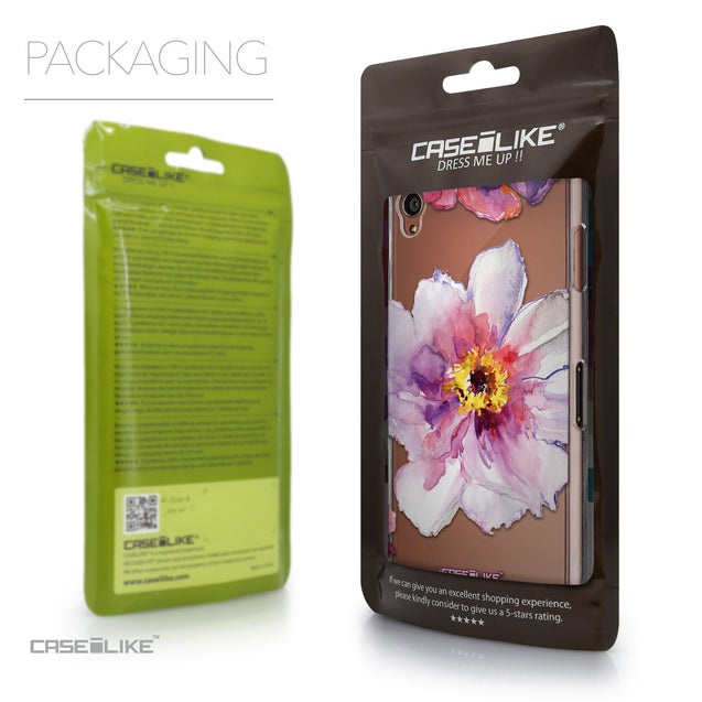 Packaging - CASEiLIKE Sony Xperia Z3 back cover Watercolor Floral 2231