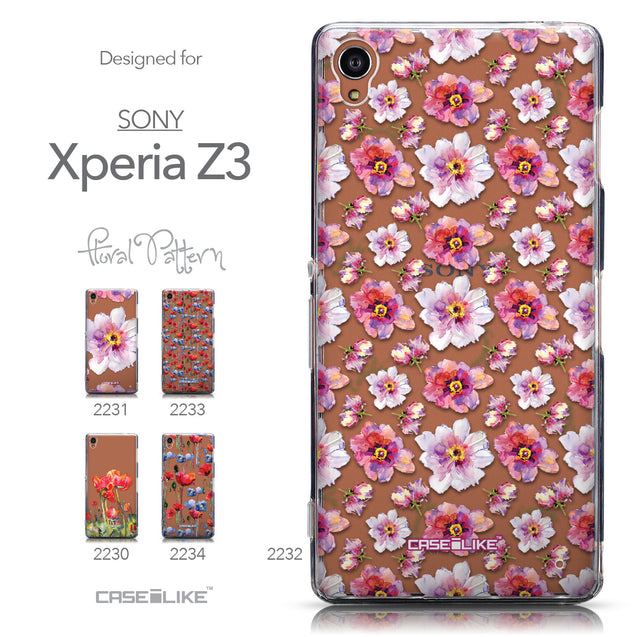 Collection - CASEiLIKE Sony Xperia Z3 back cover Watercolor Floral 2232