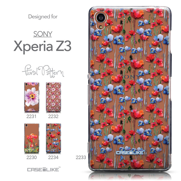 Collection - CASEiLIKE Sony Xperia Z3 back cover Watercolor Floral 2233