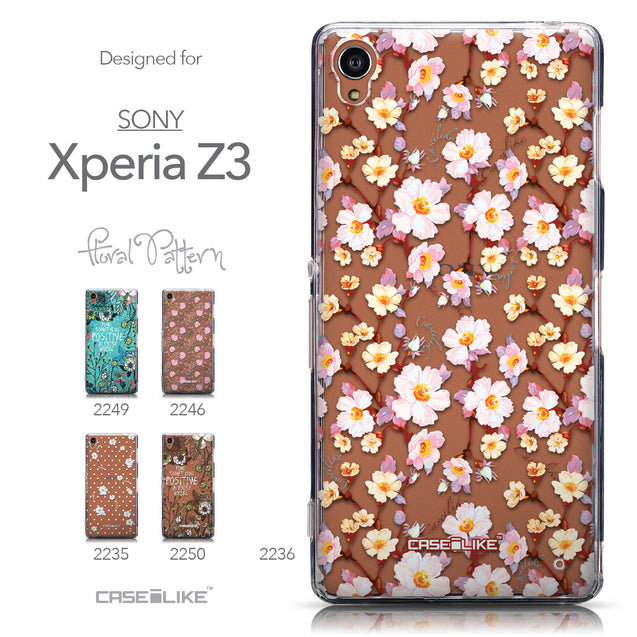 Collection - CASEiLIKE Sony Xperia Z3 back cover Watercolor Floral 2236