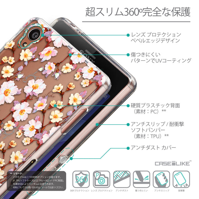 Details in Japanese - CASEiLIKE Sony Xperia Z3 back cover Watercolor Floral 2236