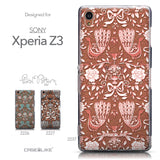Collection - CASEiLIKE Sony Xperia Z3 back cover Roses Ornamental Skulls Peacocks 2237