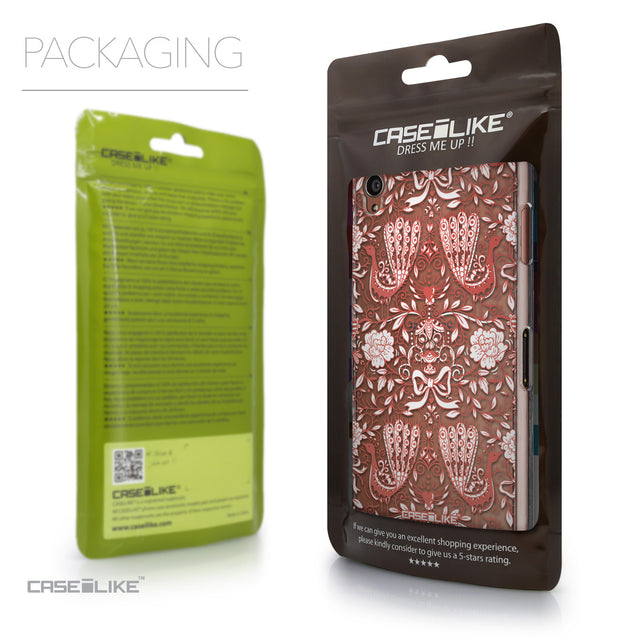 Packaging - CASEiLIKE Sony Xperia Z3 back cover Roses Ornamental Skulls Peacocks 2237