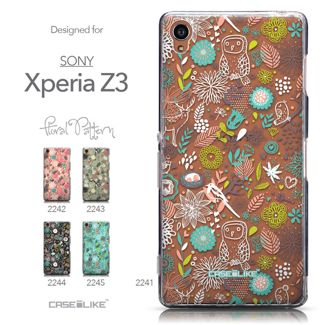 Collection - CASEiLIKE Sony Xperia Z3 back cover Spring Forest White 2241