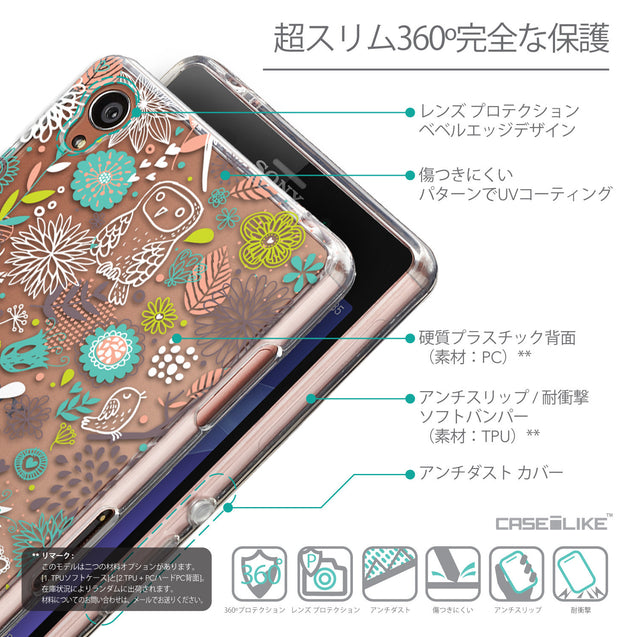 Details in Japanese - CASEiLIKE Sony Xperia Z3 back cover Spring Forest White 2241