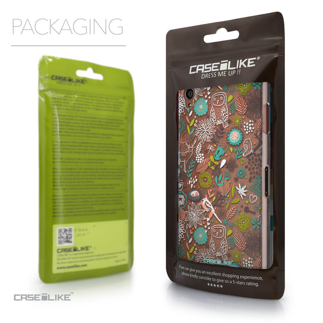 Packaging - CASEiLIKE Sony Xperia Z3 back cover Spring Forest White 2241