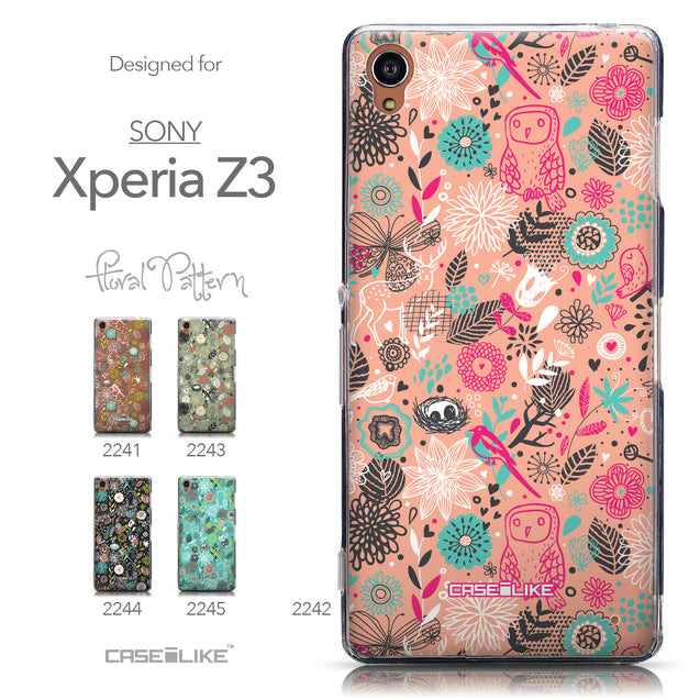 Collection - CASEiLIKE Sony Xperia Z3 back cover Spring Forest Pink 2242