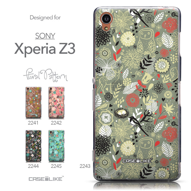 Collection - CASEiLIKE Sony Xperia Z3 back cover Spring Forest Gray 2243