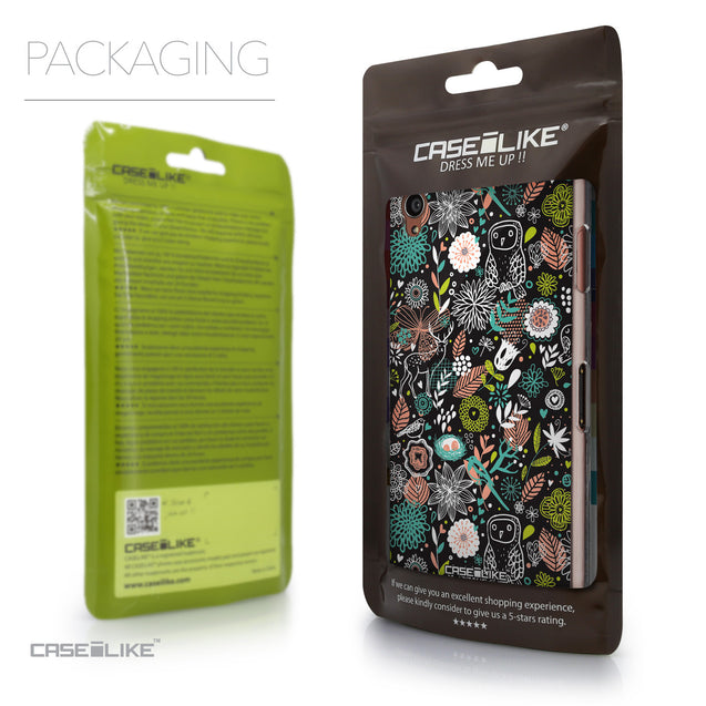 Packaging - CASEiLIKE Sony Xperia Z3 back cover Spring Forest Black 2244