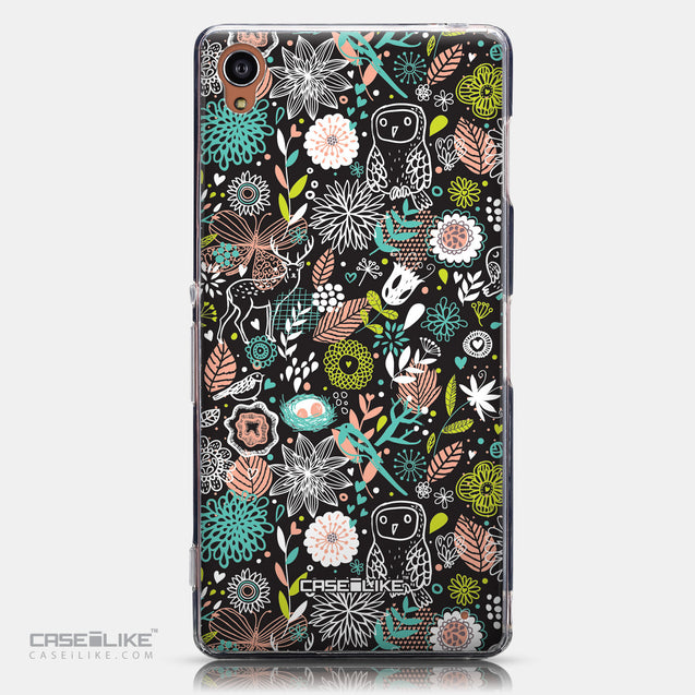 CASEiLIKE Sony Xperia Z3 back cover Spring Forest Black 2244