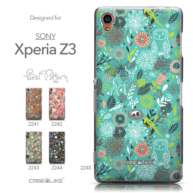 Collection - CASEiLIKE Sony Xperia Z3 back cover Spring Forest Turquoise 2245