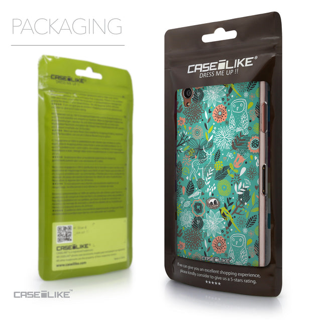 Packaging - CASEiLIKE Sony Xperia Z3 back cover Spring Forest Turquoise 2245