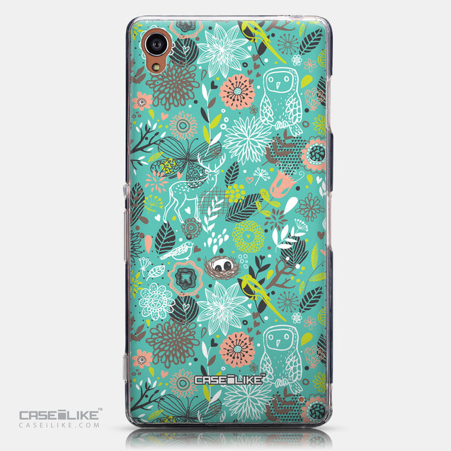 CASEiLIKE Sony Xperia Z3 back cover Spring Forest Turquoise 2245