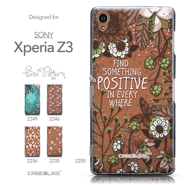 Collection - CASEiLIKE Sony Xperia Z3 back cover Blooming Flowers 2250