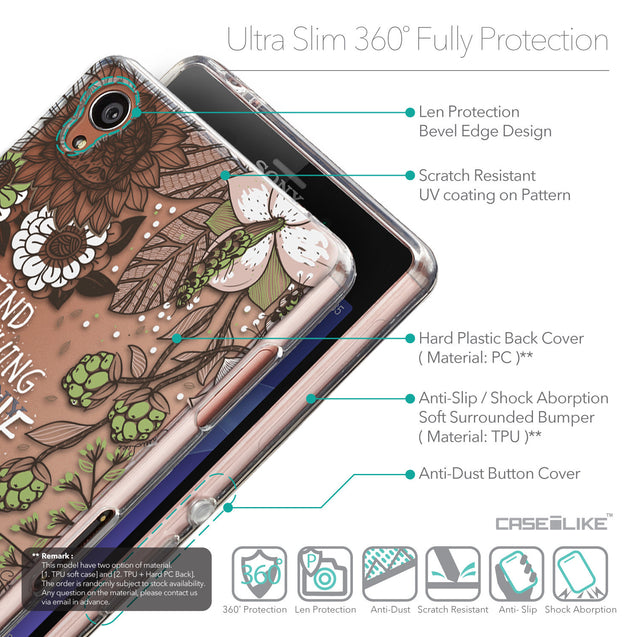 Details in English - CASEiLIKE Sony Xperia Z3 back cover Blooming Flowers 2250