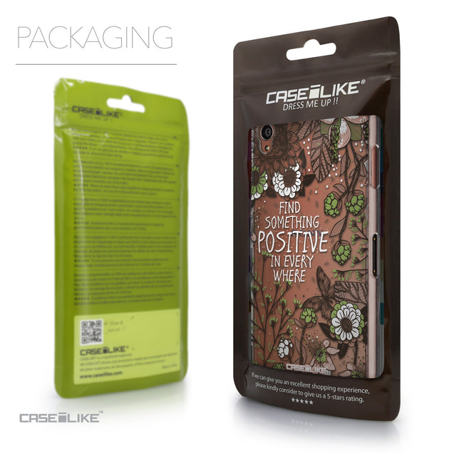 Packaging - CASEiLIKE Sony Xperia Z3 back cover Blooming Flowers 2250