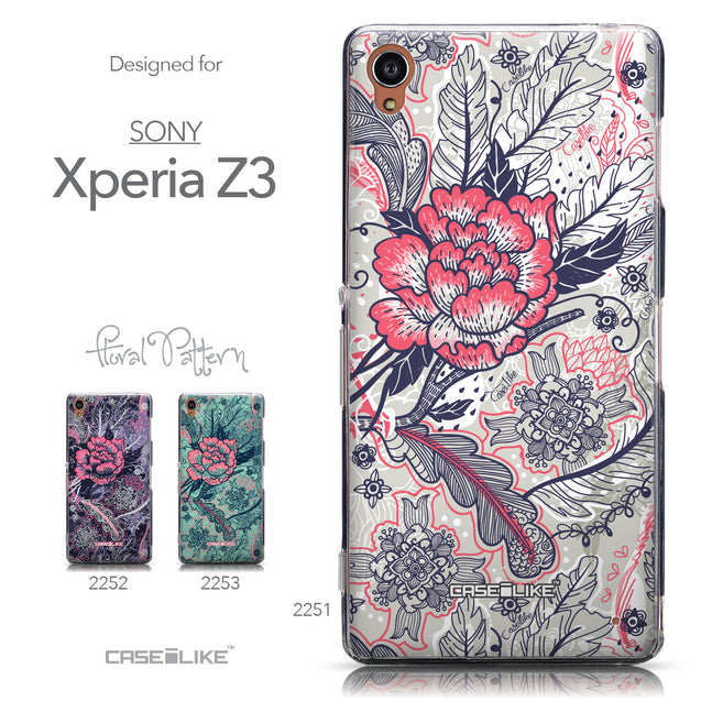 Collection - CASEiLIKE Sony Xperia Z3 back cover Vintage Roses and Feathers Beige 2251