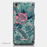 CASEiLIKE Sony Xperia Z3 back cover Vintage Roses and Feathers Turquoise 2253