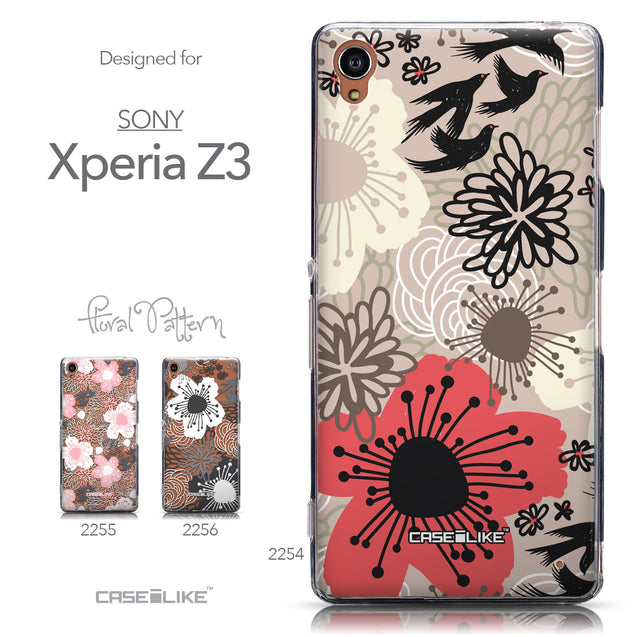 Collection - CASEiLIKE Sony Xperia Z3 back cover Japanese Floral 2254