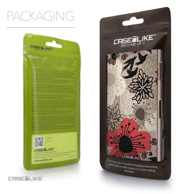 Packaging - CASEiLIKE Sony Xperia Z3 back cover Japanese Floral 2254