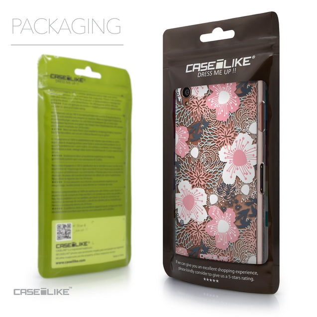 Packaging - CASEiLIKE Sony Xperia Z3 back cover Japanese Floral 2255
