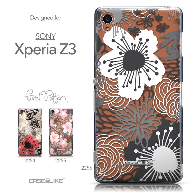 Collection - CASEiLIKE Sony Xperia Z3 back cover Japanese Floral 2256