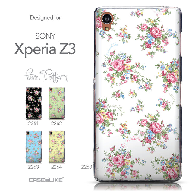 Collection - CASEiLIKE Sony Xperia Z3 back cover Floral Rose Classic 2260